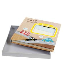 Babies Bloom Vehicle Themed 1st Year Memory Book - Multicolor