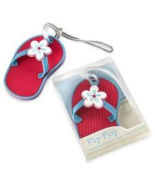 Babies Bloom Flip Flop Luggage Tag - Pink Blue