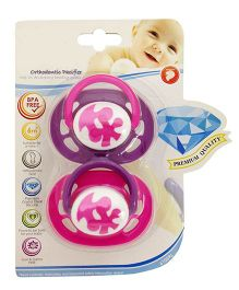 Babies Bloom Baby Pacifier Pink - Set of 2