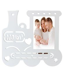 Babies Bloom Train Engine Shaped Photo Frame - White