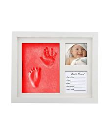 Babies Bloom Hand-Print And Footprint Frame Kit - Red