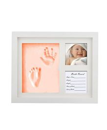 Babies Bloom Hand-Print And Footprint Frame Kit - Orange