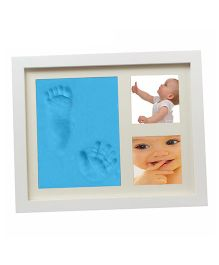 Babies Bloom Hand-Print And Footprint Frame Kit - Blue