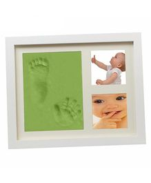 Babies Bloom Hand-Print And Footprint Frame Kit - Green