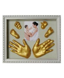 Babies Bloom 3D Casting Kit With Wooden Frame - White Golden