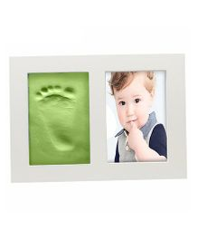 Babies Bloom Hand And Footprint Imprint Frame Kit - Green