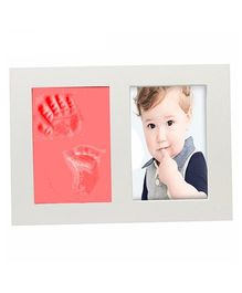 Babies Bloom Hand And Footprint Imprint Frame Kit - Red