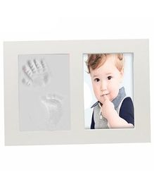 Babies Bloom Hand And Footprint Imprint Frame Kit - White