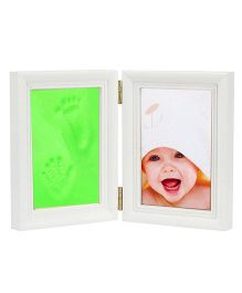 Babies Bloom Keepsake Life Story Imprint Frame With Clay - Green
