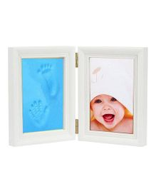 Babies Bloom Keepsake Life Story Imprint Frame With Clay - Blue