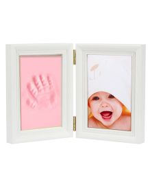 Babies Bloom Keepsake Life Story Imprint Frame With Clay - Pink