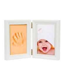 Babies Bloom Keepsake Life Story Imprint Frame With Clay - Orange