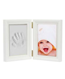 Babies Bloom Keepsake Life Story Imprint Frame With Clay - White