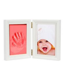 Babies Bloom Keepsake Life Story Imprint Frame With Clay - Red
