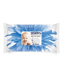 Teddyy Baby Wet Wipes - 80 Pieces