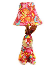 Baby Oodles Fabric Table Lamp Colourful Rabbit - Multicolour