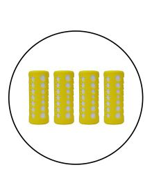 Safe-O-Kid 4 Baby Feeding Bottle Covers / Sleeves - Up to 280 ml, Silicone Material, Yellow - Pack of 4