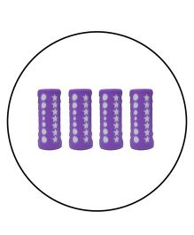Safe-O-Kid 4 Baby Feeding Bottle Covers / Sleeves - Up to 240 ml, Silicone Material, Purple - Pack of 4