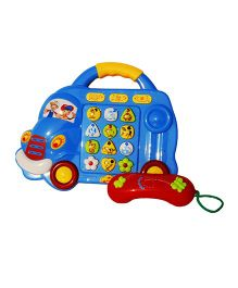 Toyhouse Cartoon Car Electronic Toy Phone With 5 Lights - Blue Red