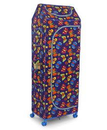 Ratnas Jumbo Butterfly Print Almirah 5 Shelves  (Color & Print May Vary) - Blue
