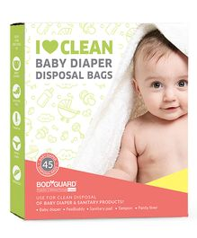 BodyGuard Baby Diapers & Sanitary Disposal Bag - 45 Pieces