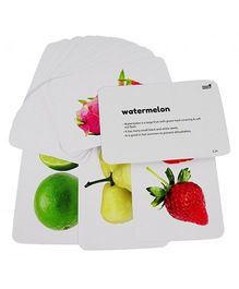 Hungry Brain Fruits, Vegetable & Transports Flash Cards - Multi Color