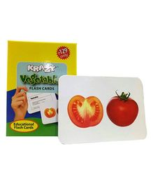 Krazy Vegetables Mini Flash Cards - 24 Cards