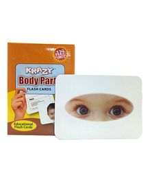 Krazy Body Parts Mini Krazy Flash Cards - 24 cards