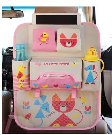 Ez Life Cute Animals Car Seat Organizer - Multicolour