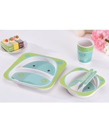 Ez Life Hippo Dining Set 5 Pieces - Light Blue