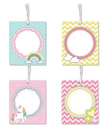Little Jamun Unicorn Themed Gift Tags Multicolor - Set of 8