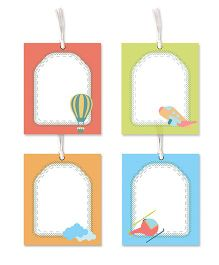 Little Jamun Sky Themed Gift Tags Multicolor - Set of 8
