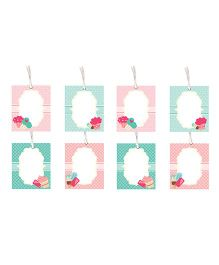 Little Jamun Cupcake Themed Gift Tags Multicolor - Set of 8