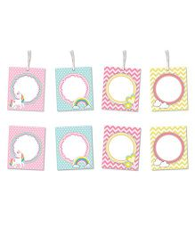 Little Jamun Unicorn Themed Gift Tags And Stickers Multicolor - Set of 8