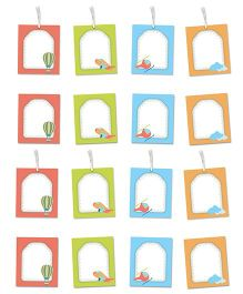 Little Jamun Sky Themed Gift Tags And Stickers Multicolor - Set of 8