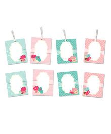 Little Jamun Cupcake Themed Gift Tags And Stickers Multicolor - Set of 8
