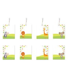 Little Jamun Cute Animals Themed Gift Tags And Stickers Multicolor - Set of 8