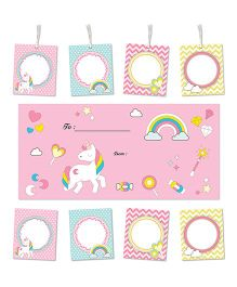 Little Jamun Unicorn Themed Envelopes Stickers Gift Tags Multicolor - Set of 20