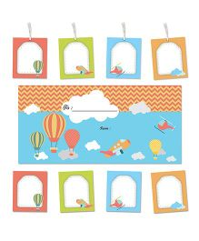 Little Jamun Sky Themed Envelopes Stickers Gift Tags Multicolor - Set of 20
