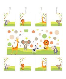 Little Jamun Cute Animals Themed Envelopes Stickers Gift Tags Multicolor - Set of 20