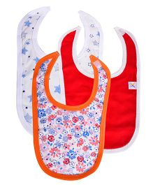 Colorfly Multi Print Bibs Pack Of 3 - Multicolor (Colors may vary)