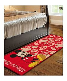 Disney Mickey Mouse Character Print Carpet - Red