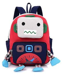 Abracadabra Kids Robot 3D Toy Backpack Red - Height 10 inches