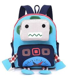 Abracadabra Kids Robot 3D Toy Backpack Blue - Height 10 inches