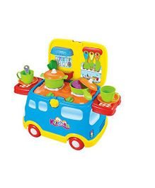 Webby Kitchen Set Cum Ride On Toy - Multi Colour
