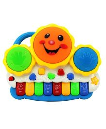 Webby 2 In 1 Drum Keyboard With Light - Multicolor