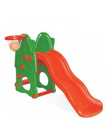 Yoto Castle Wavy Slide With Basket Ball Net - Green