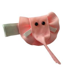 NeedyBee Snap Clip Elephant Shape - White & Peach