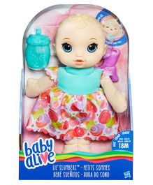 Baby Alive Lil Slumber Doll Blonde - Height 29 cm