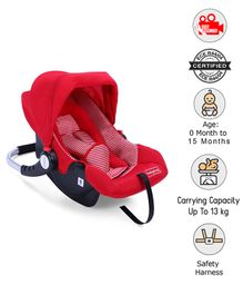 Babyhug Onyx Car Seat Cum Carry Cot With Rocking Base - Red